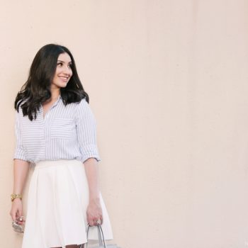 Little White Box Pleated Skirt by The Blush Diaries