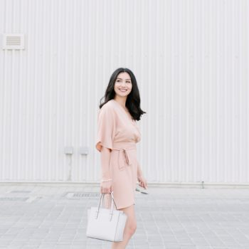 Alserka Avenue & The Missguided Nude Wrap Dress