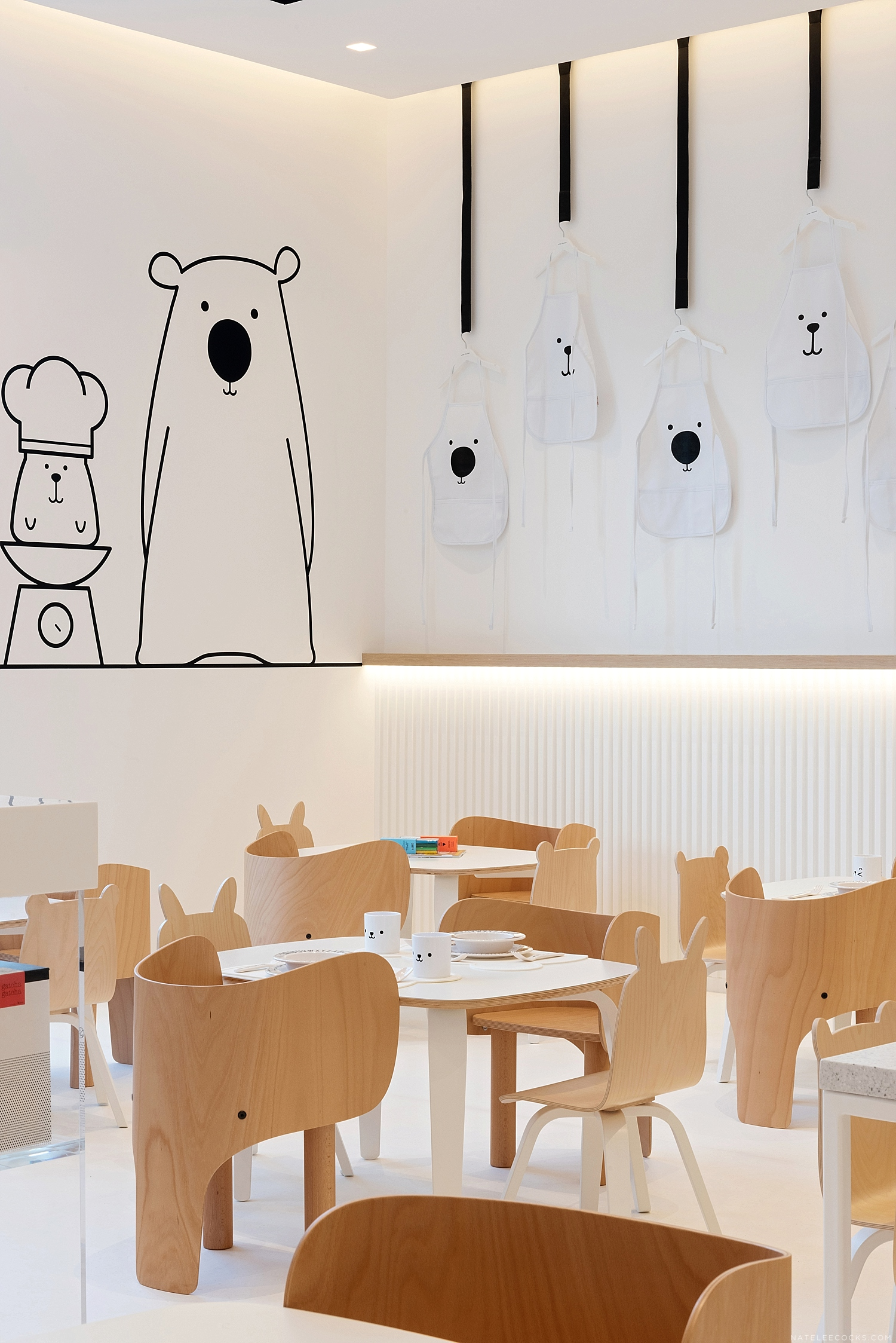 WHITE AND THE BEAR WORLD'S FIRST CHILDRENS RESTAURANT
